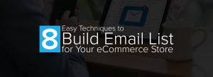 8 Easy Techniques to Build an Email List for Your eStore.