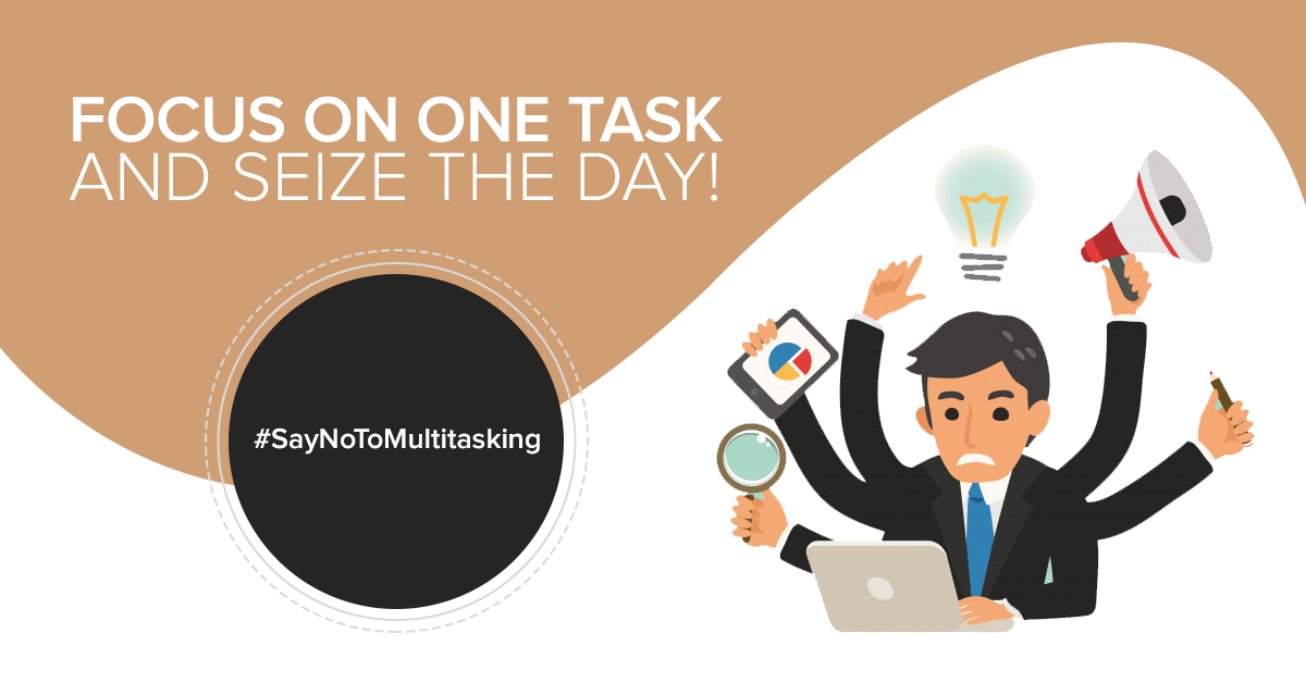 Say No To Multitasking - Sarvika Technologies blog - Featured Image