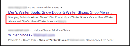 keyword-rich snippet content