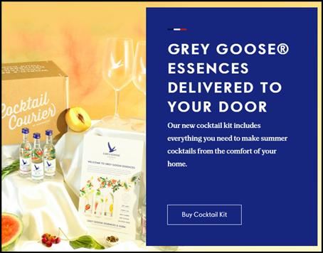 Grey goose popup