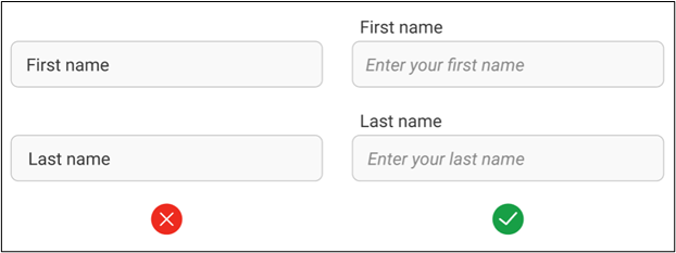 Data forms - Always use labels