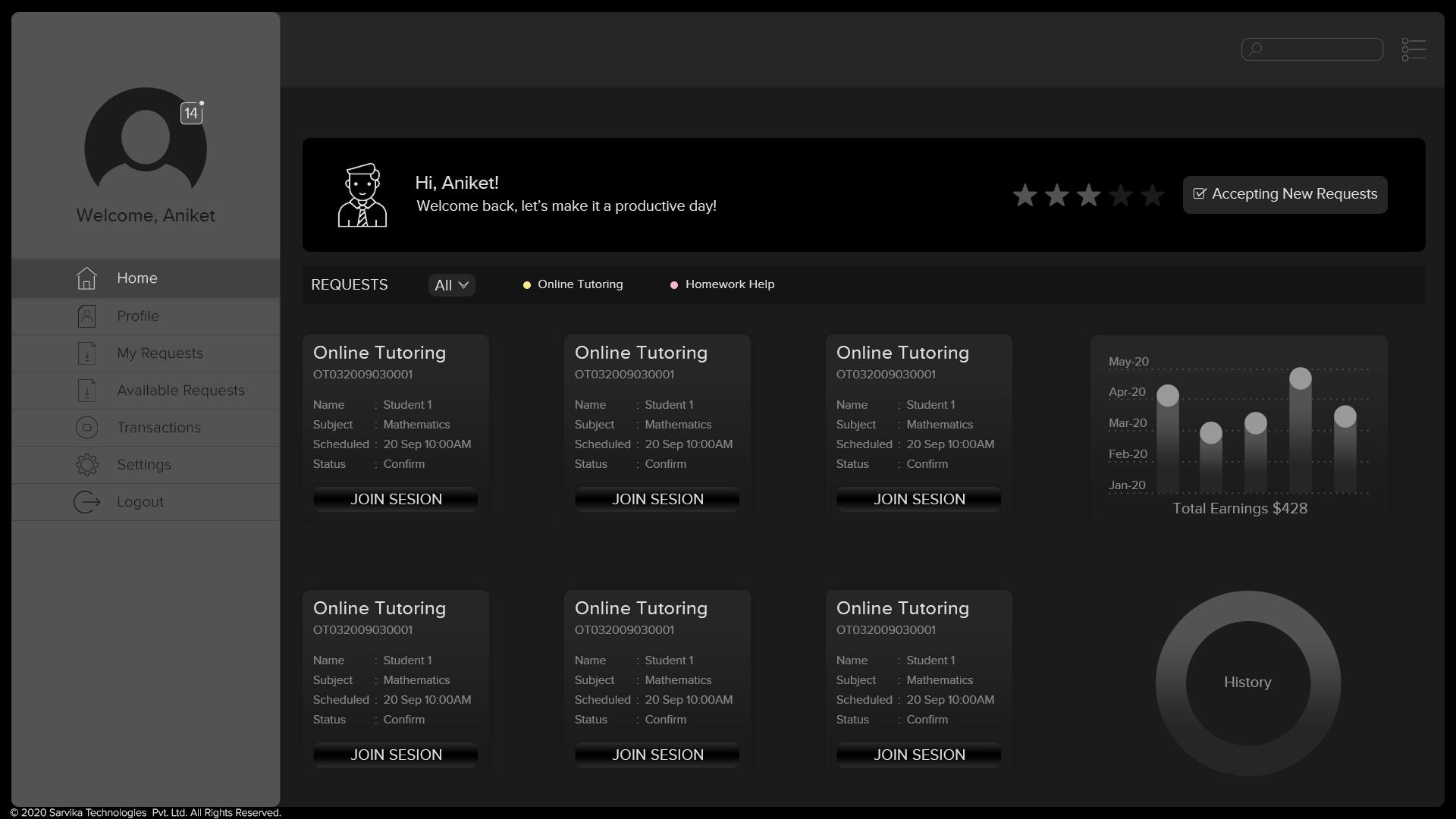 EdTech application key features 2 - Tutor-Screen